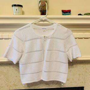 NEW Calvin Klein white 1/2 sleeve shrug